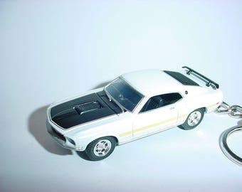 New 3D 1969 Ford Mustang GT Custom Keychain by Brian Thornton keyring key chain  69 GT