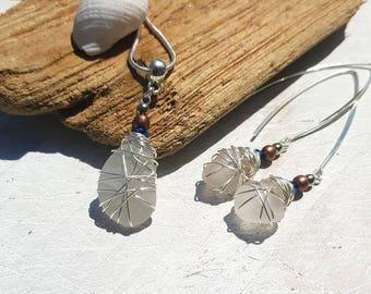 Irish Seaglass Boho Jewellery Set