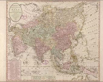Poster, Many Sizes Available; Map Of Asia; India China Japan Russia Arabia 1791