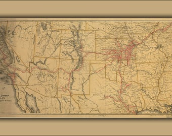 Poster, Many Sizes Available; Map Of Atchison, Topeka And The Santa Fe Railroad System, 1899