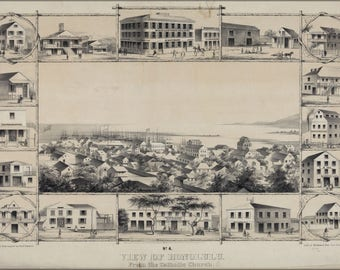 Poster, Many Sizes Available; No. 4. View Of Honolulu. From The Catholic Church. (C. 1854) #031215
