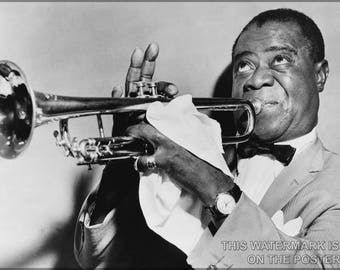 Poster, Many Sizes Available; Louis Armstrong[1] (August 4, 1901 – July 6, 1971),[2] Nicknamed Satchmo[3] Or Pops