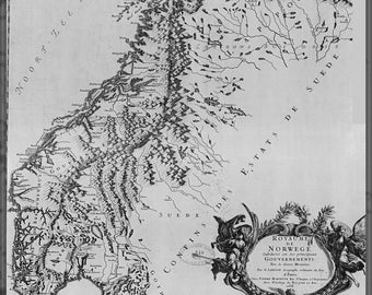 Poster, Many Sizes Available; 1668 Map Of Norway By G. Sanson In French