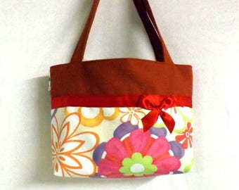 "Vintage flowers and copper ""Billbag"" tote bag"