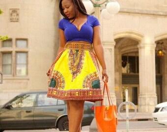 African maxi skirt/ Dashiki fsfric/ angelina/