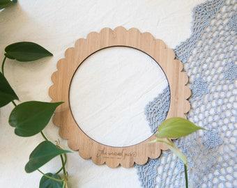 Petite ronde en bambou tissage Loom - 20cm (7,9 pouces) de diamètre