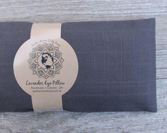 Lavender Eye Pillow • Large • Dark Grey • Relaxation • Yoga •  Eye Cover • Meditation • Organic Body Care
