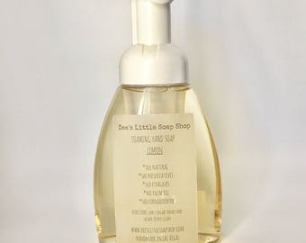 All natural foaming hand soaps