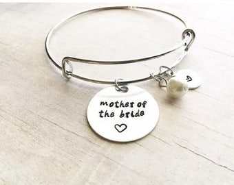 ONE DAY SALE Mother of the Bride Gift from Daughter - Gift for Mom Wedding - Mother of the Bride - Bangle Bracelet