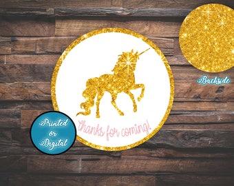 Unicorn Tags, Unicorn Thank you Tags, Unicorn Favor Tags, DIGITAL