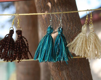 Acrylic Yarn Tassel Earrings (2 different color options), Mother's Day Gift, Easter Gift