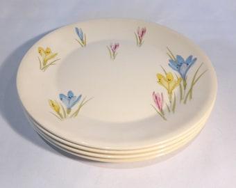 Figgjo Flint 4 x dinner plates with crocus design – original from the 1960s