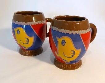 2 Cadburys crème egg mugs- original from the 1980s
