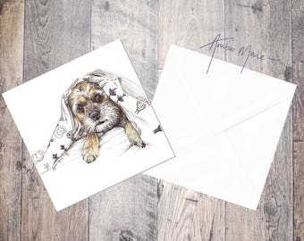 Border Terrier Greeting Card - Design 5