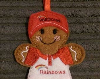 Gingerbread Girl Guiding Hanging Decoration