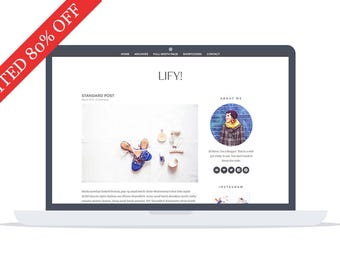 80% OFF - Lify - Wordpress Theme - Premade - Self Hosted - Lifystyle and Fashion Wordpress Theme - Responsive