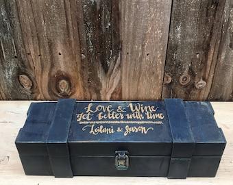 Wine Box Ceremony, Wedding Wine Box Personalized