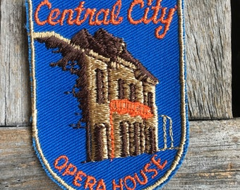 Central City Opera House Colorado Vintage Travel Souvenir Patch from Voyager