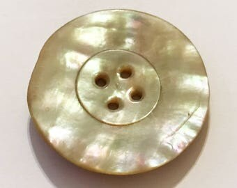 """MOP Mother of Pearl Shell 1-1/4"""" Button"""
