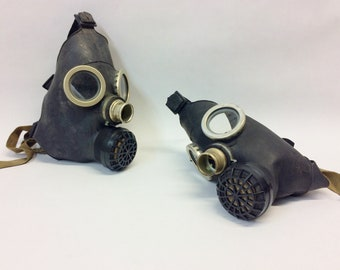 2pcs Small gas mask children black gas mask without hose soviet russian
