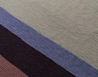 Handmade Knit Corner to Corner Baby Blanket