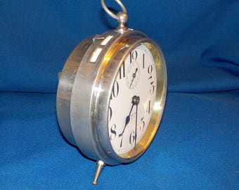 """Vintage Westclox """"Big Ben"""" Alarm Clock, Chrome Plated Brass Case, Made in U.S.A.  Works Great!"""