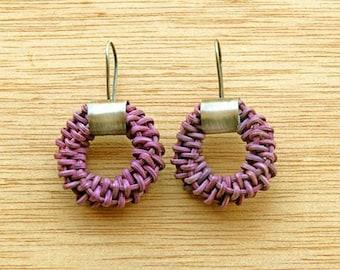 'Origin' purple earrings