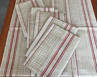 Grandma Tea towel linen cloth towel table runners, trousseau