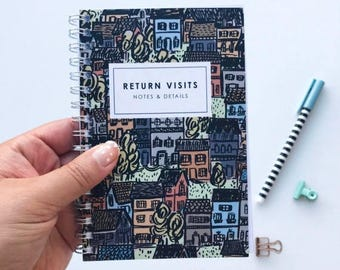 SALE House to House Return Visit Notebook, JW Gift, Pioneer Gift, Jehovah's Witnesses, Pioneer School Gift, Best Life Ever, Baptism Gift