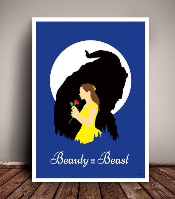 Beauty And The Beast // Disney // Emma Watson // Minimalist Movie Poster // Unique A4 / A3 Art Print