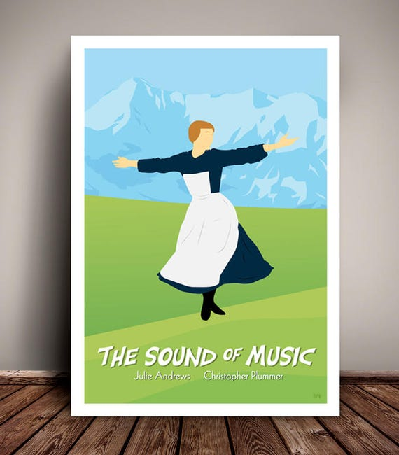 The Sound Of Music // Minimalist Movie / Musical Poster // Unique A4 / A3 Art Print