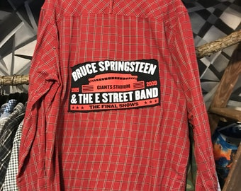 Bruce Springsteen Upcycled Flannel