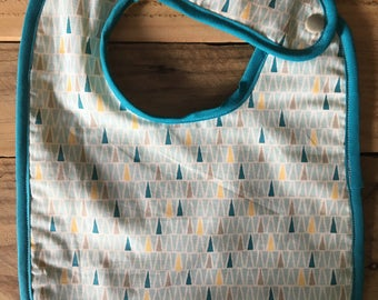 Geometric blue bib