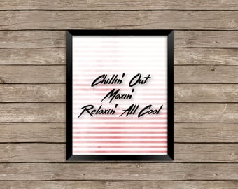 FRESH PRINCE of Bel-Air TV quote - Instant Digital Download - 8x10 Photo Print - The Fresh Prince - Will Smith