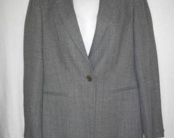 Light Gray Sisley 8 Single Breasted Wool Rayon Jacket