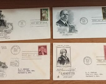 23 First Day Covers Stamps - Biographical Lot - 1955-1969