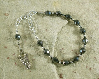Hades Prayer Bead Bracelet: Greek God of Death and the Afterlife, Abundance and Wealth, and King of the Underworld