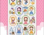 Mini Princesses schema punto croce SODAstitch SO-G135