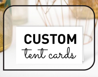 Custom Wedding Place Cards / Guest Name Card, Tent Card, Food Card, Food Label ▷ Matching any of the collections in my shop