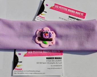 Kids headband purple themed OWL / OWL