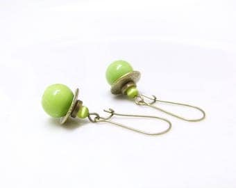 Boho earrings ~, ~ lime ~ ~