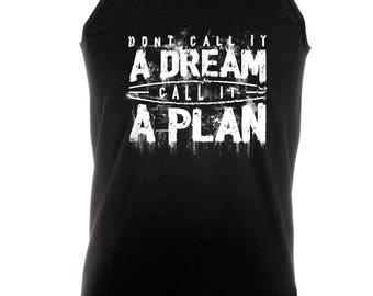 Call It A Plan -  Bodybuilding Motivation Black Men's Clothing Workout Vest TOP MMA