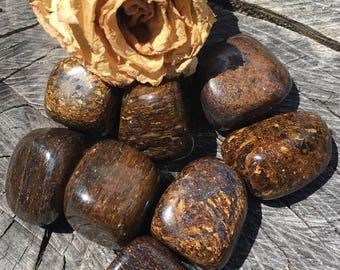 Bronzite, Tumbled Bronzite, Tumbled Stones