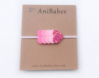 Valentines Day Gift, Heart Headband, Glitter Headband, Baby Headband, Valentines Headband, Valentines Day Headband, Newborn Headband