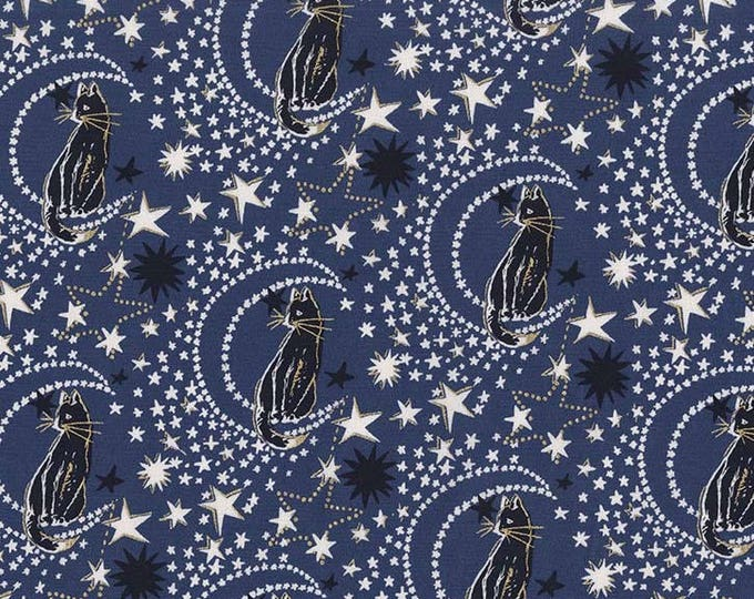 Cat's Cradle by Michael Miller - Cat's Cradle Nite Metallic  - Cotton Woven Fabric