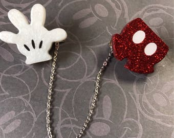 Mickey Pants and Glove Sweater Clips