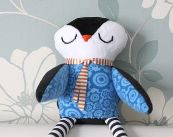Penguin Plush - Handmade Toddler/Infant Toy