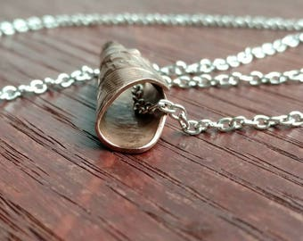 Metal bead necklace, tube necklaces, bohemain charm necklace, tectured tube pendant, copper tribal markings, tribal necklace, charm necklace
