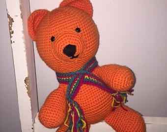 Crochet handmade unique baby soft plush toy, teddy bear, amigurumi toy, one of a kind, newborn, baby shower, christening gift Etsy Australia