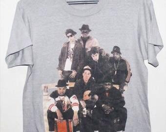 VINTAGE 80s BEASTIE BOYS run dmc together forever hip hop rap t shirt tour 50/50